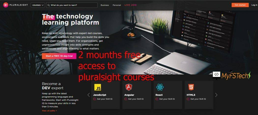 free access to Pluralsight courses