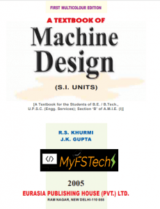 Machine Design Book by R.S. Khurmi